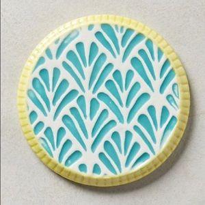 Anthropologie Other - Anthropologie Artisan Ceramic Coasters (Turquoise)